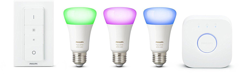 Kit de démarrage 3 ampoules White & Color + pont de connexion + télécommande