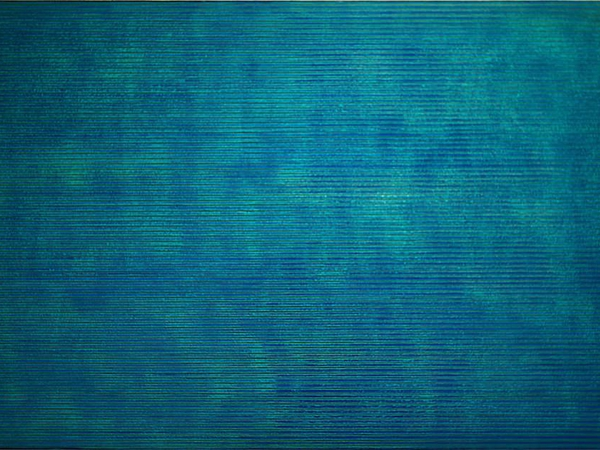 Strings Indigo, acrylic on canvas, 54 in. x 33 in. (137 cm x 84 cm)