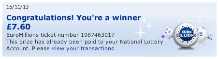 EuroMillions Win