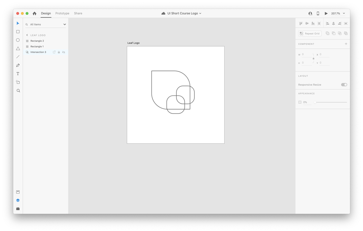 Creating shapes in Adobe XD