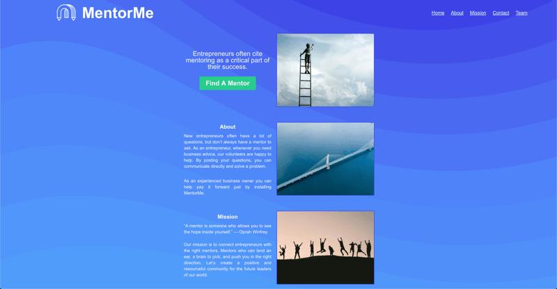 MentorMe website