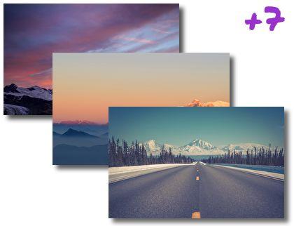 Mountains on Horizon theme pack