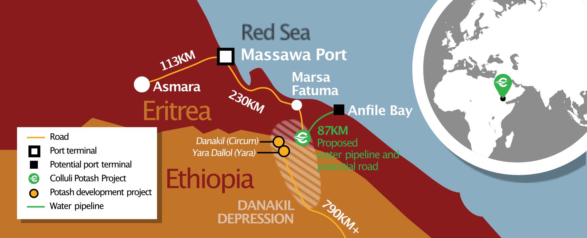 Danakali Colluli Location