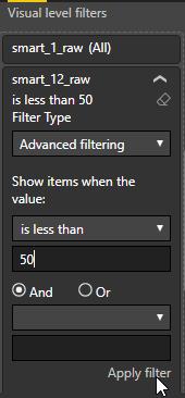 Applying filters