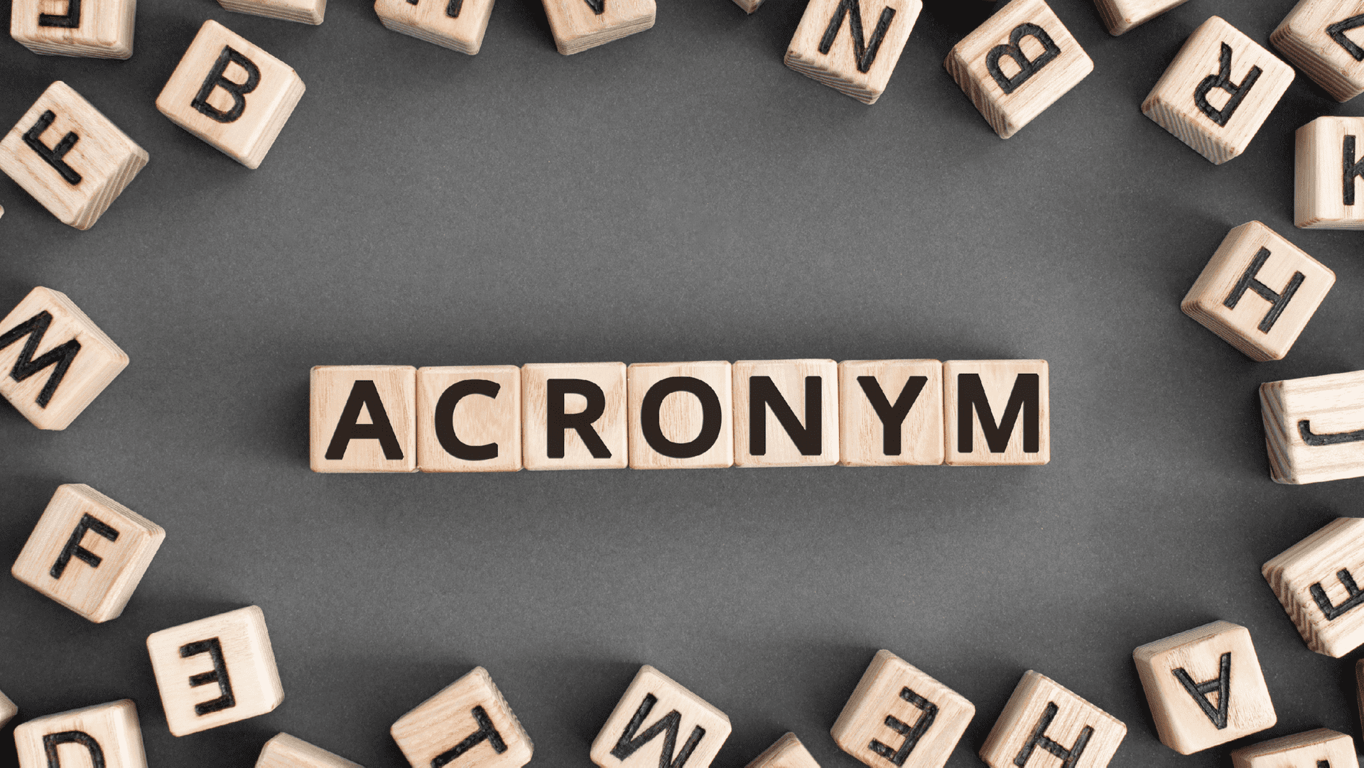 An Abbreviated Introduction to Acronyms