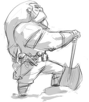 Dwarf Miner Sketch