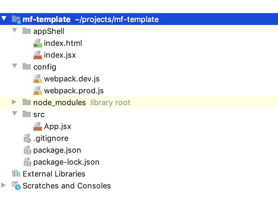 Project file structure