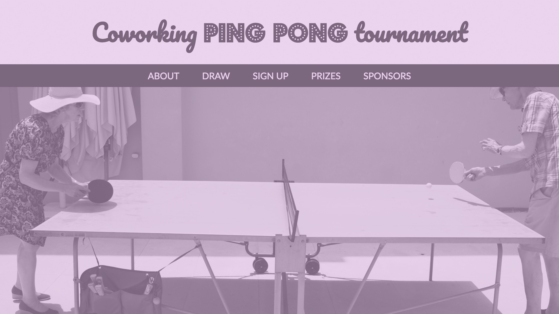 Ping Pong Tournament homepage