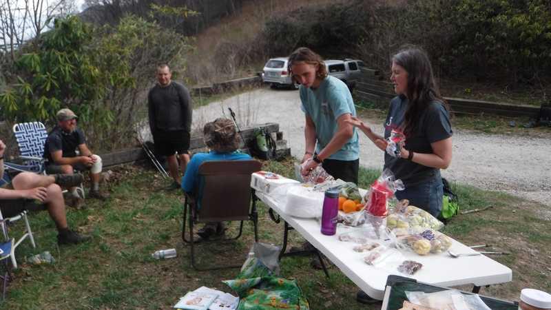 Trail magic at Tellico Gap