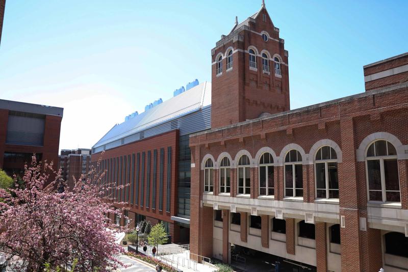 Brick buildings on the campus of Georgetown University