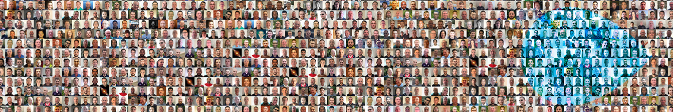 Montage picture of the thousands of tradespeople on the Local Heroes platform