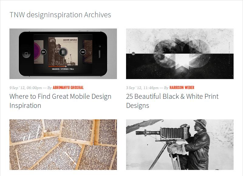 Design Inspiration on The Next Web