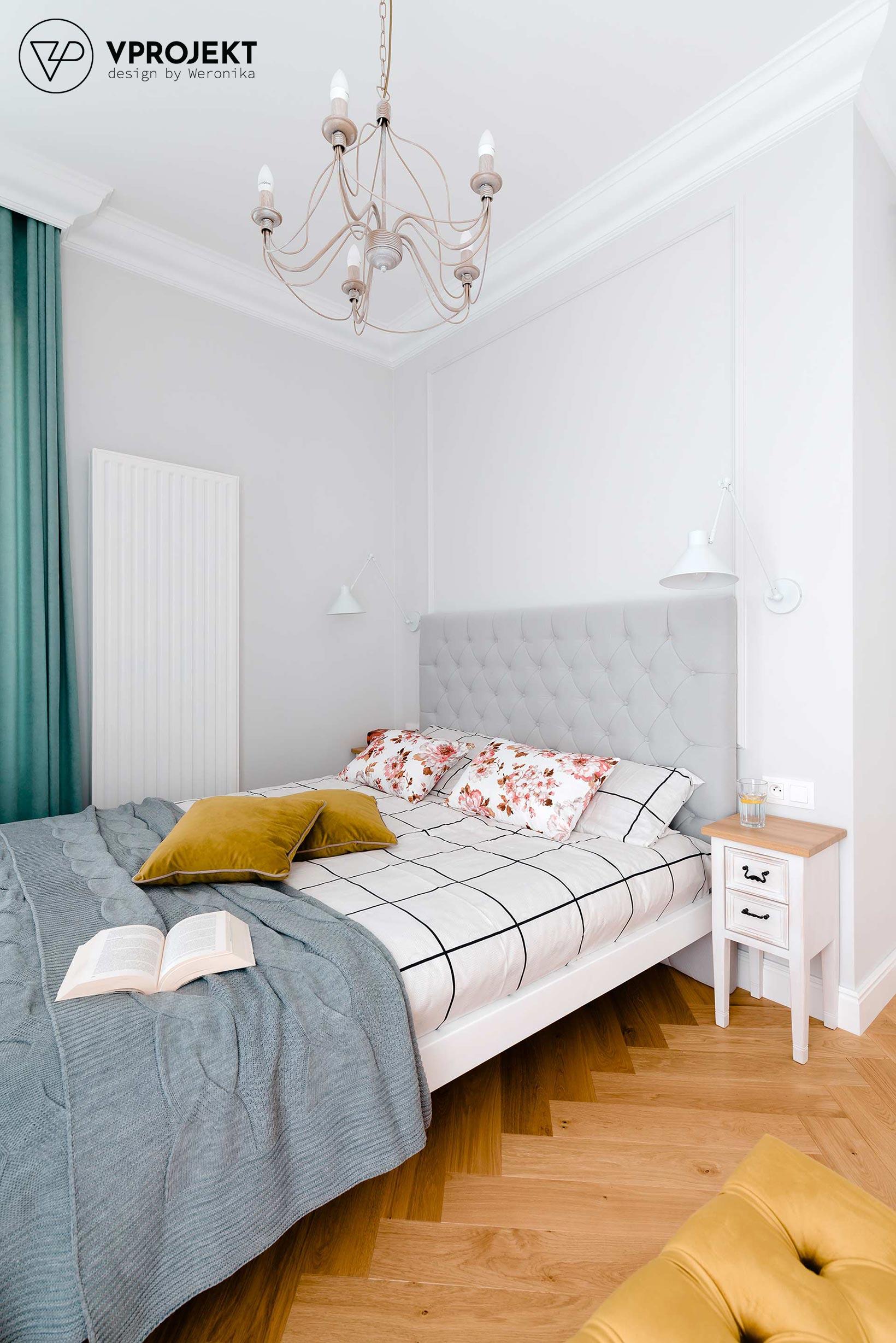 Projekt sypialni, mieszkanie w Olsztynie, Vprojekt
