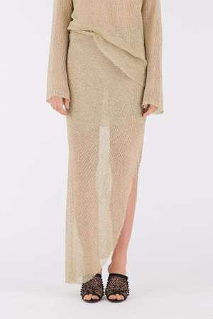 Gold Drape Skirt, Gold
