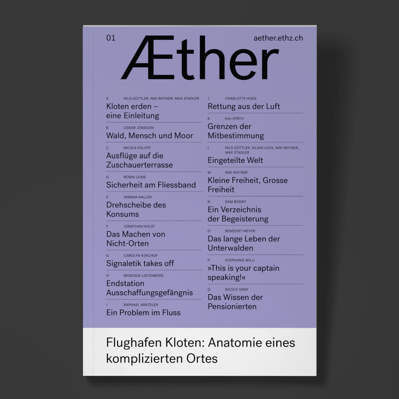 Book + Web Launch: Æther 01