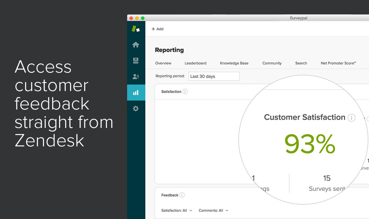 access customer feedback from Zendesk
