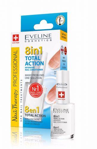 EVELINE NAIL THERAPY TOTAL ACTION 8IN1 intenzív körömerősítő körömkondicionáló 12 ml