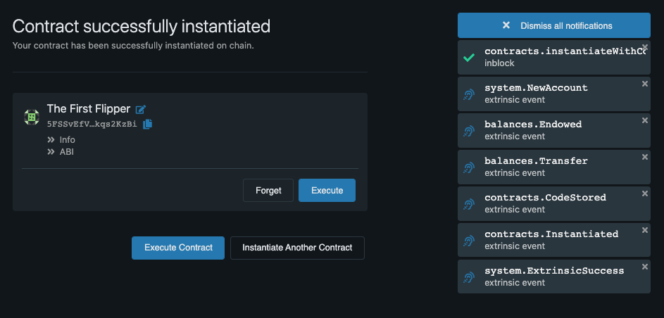 Flipper Instantiate Contract 03