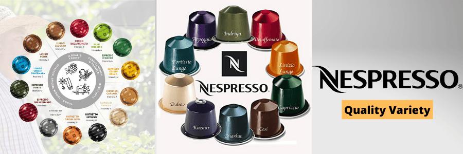 Nespresso vs Keurig - Nespresso Quality Variety Image
