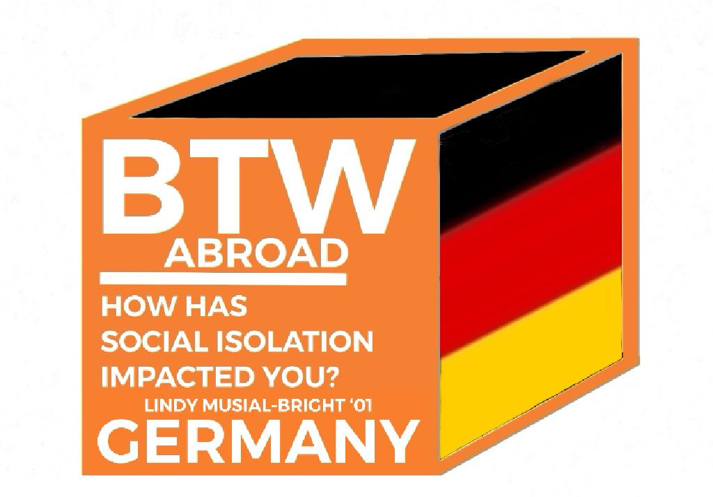 Graphic with German flag