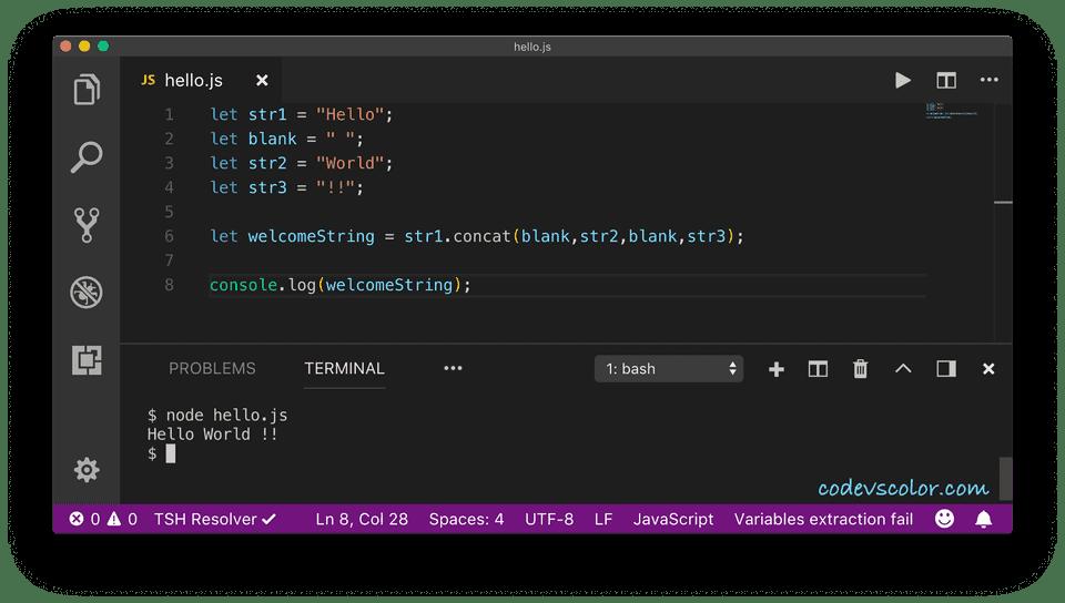 javascript string concat