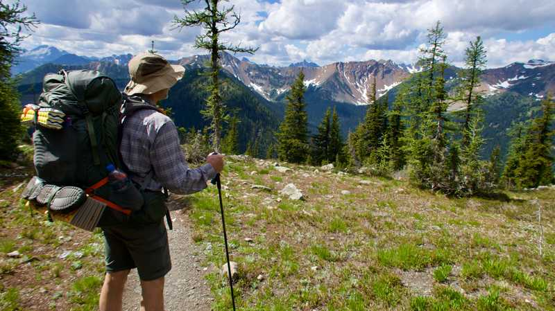 Ralph viewing North Cascade Mountains