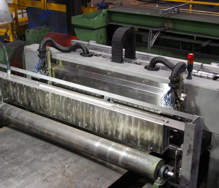 Steel Plate EMAT inspection with the temate® Pi-NB scanner side