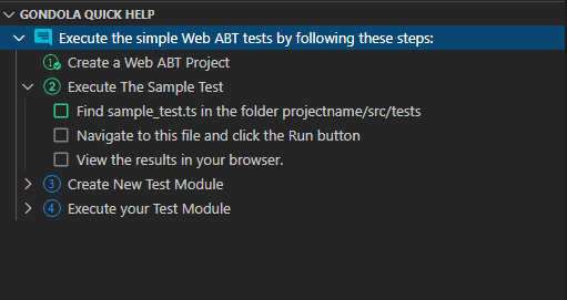 Quick Help Test Module