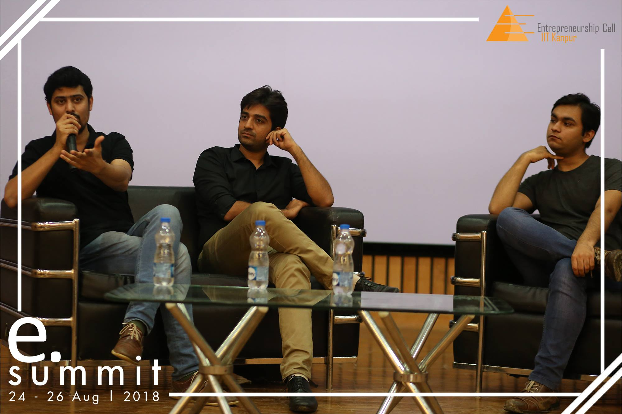 Panel discussion with three speakers