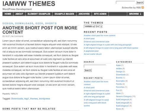 WordPress Theme: IAMWW w2 DnD v0.80