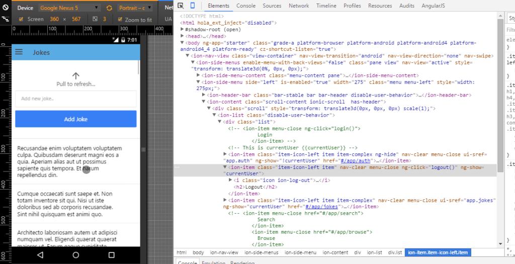 Build an app with Ionic Framework & Laravel5