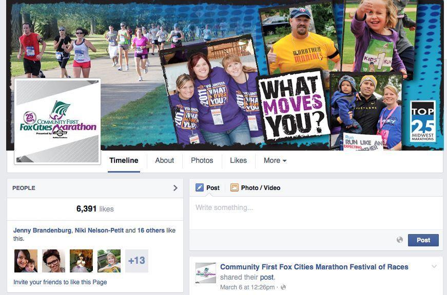 Fox Cities Marathon Facebook