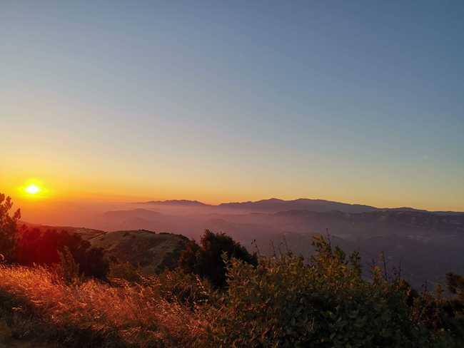 Coucher de Soleil à Santa Ynez