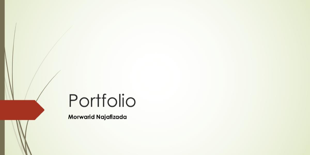 Morwarid Najafizada's Portfolio Project