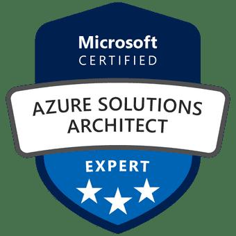 Το σήμα της πιστοποίησης Azure Solutions Architect Expert.