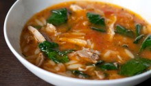 chicken tomato soup with lemon recipe
