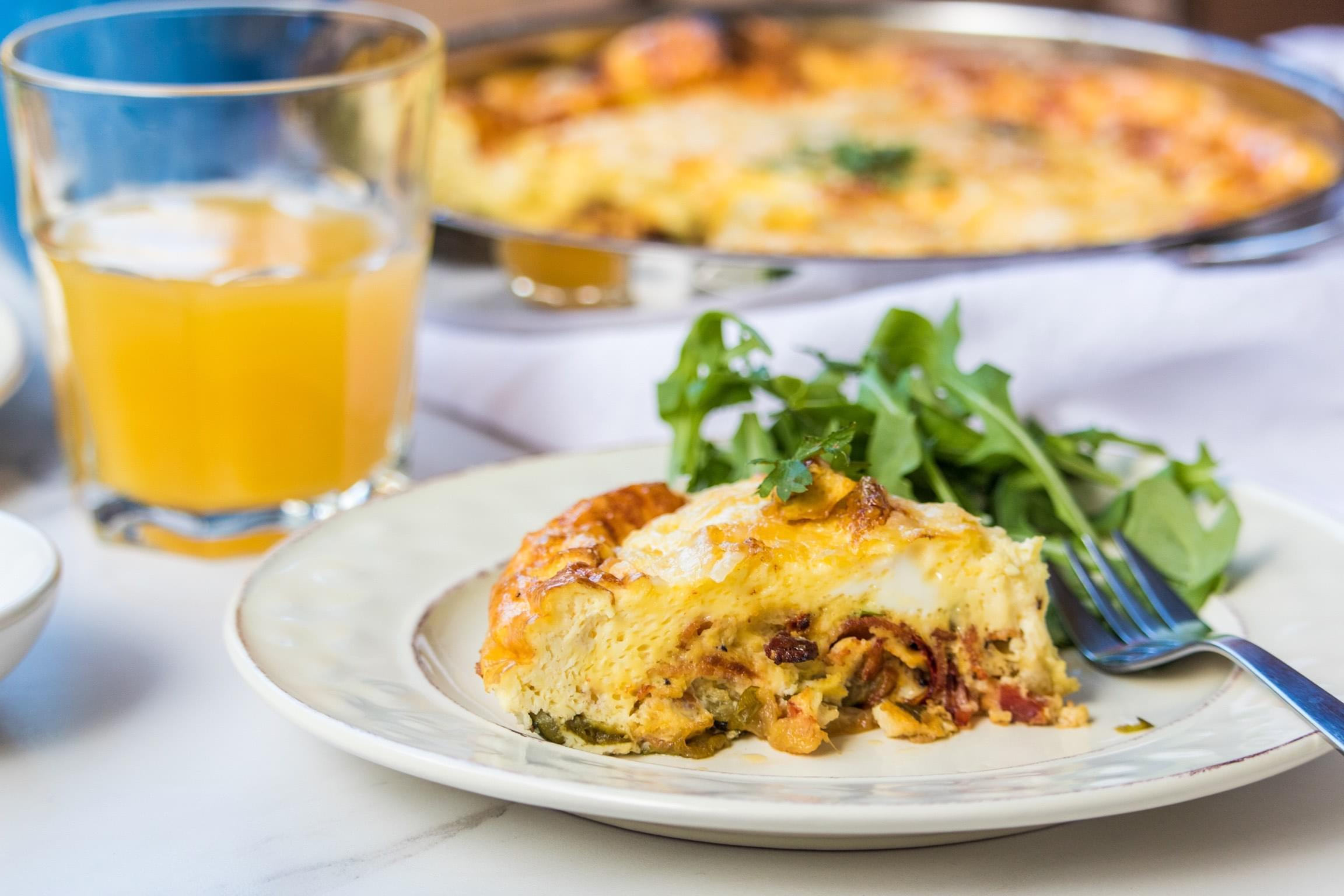 Roasted Vegetable Frittata – a must have on your brunch list.
