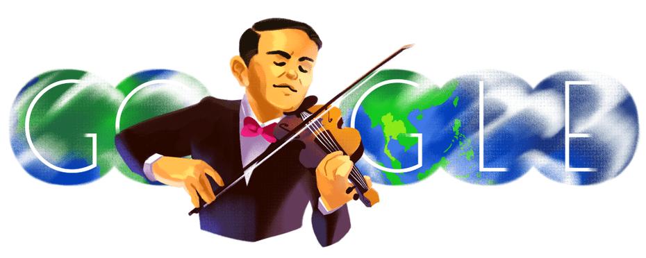 Google Doodle zum 108en Geburtstag von Eua Sunthornsanan