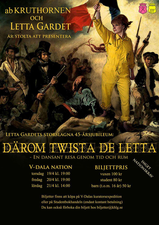 Affisch Letta Gardet 45 år