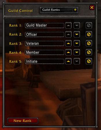 Default guild rank names