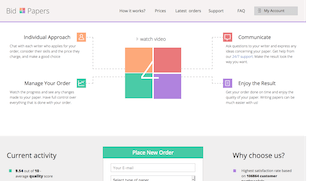 bid4papers.com main page