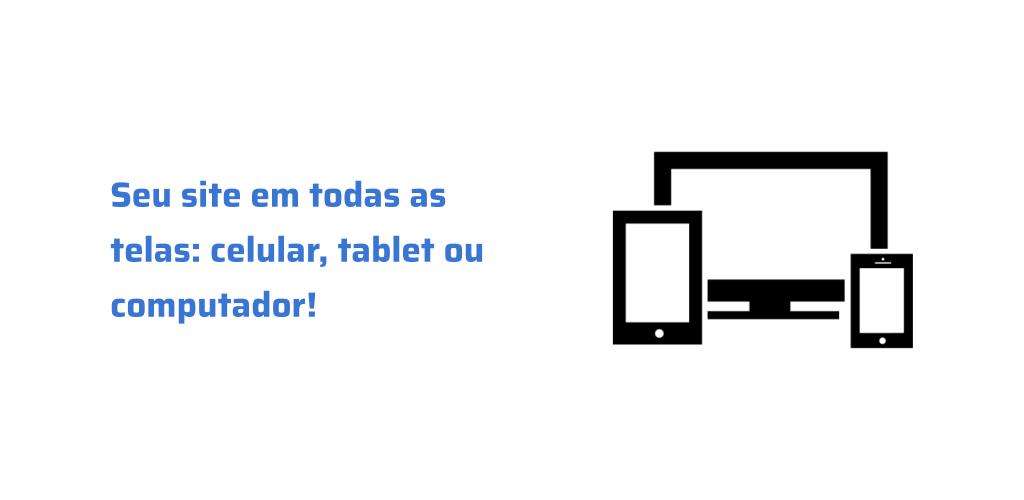 Imagem de telas de celular, computador e tablet