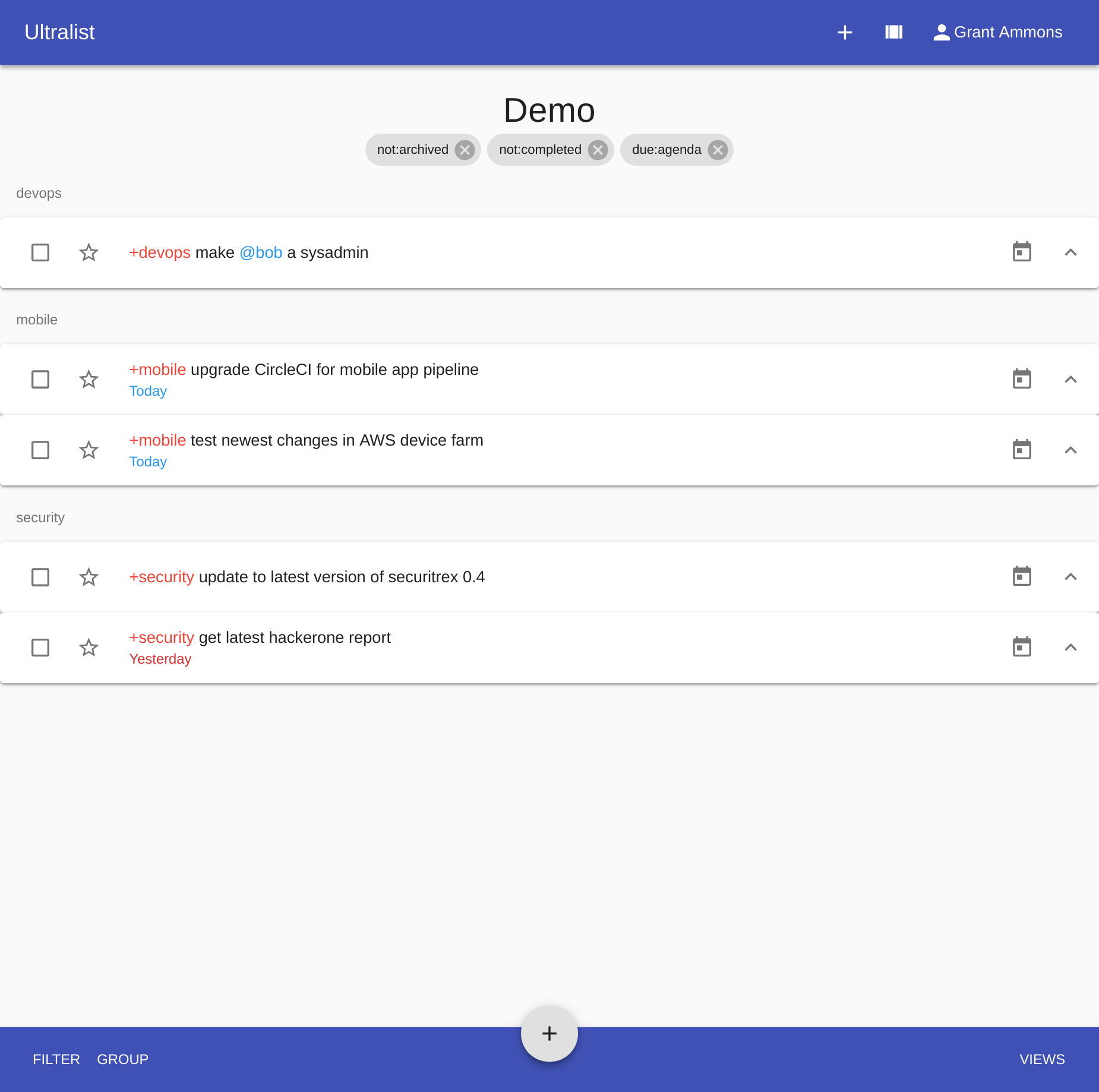 Ultralist: Task management for tech folks
