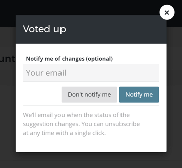 Allow voters to get email notifications