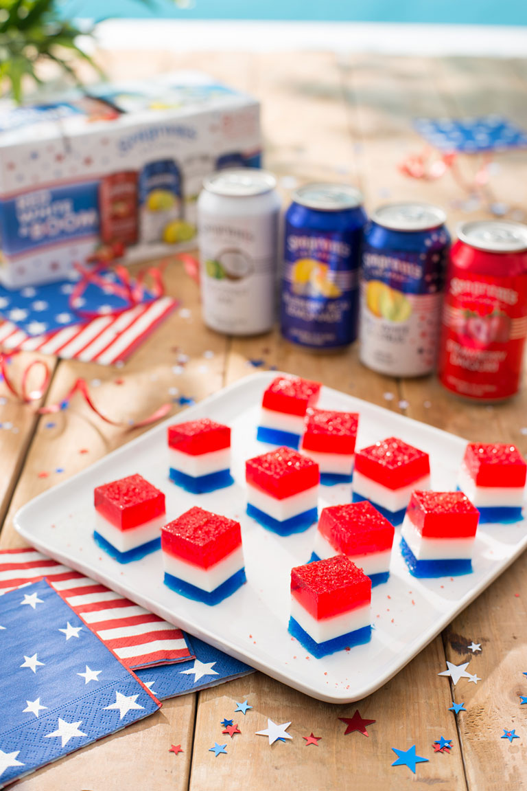 Red, White and Blue Picnic Jelly Shots