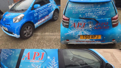 Our vans with air conditioning advertisements
