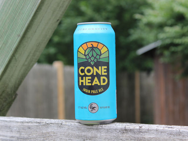 Cone Head, an India Pale Ale brewed by Zero Gravity Brewing