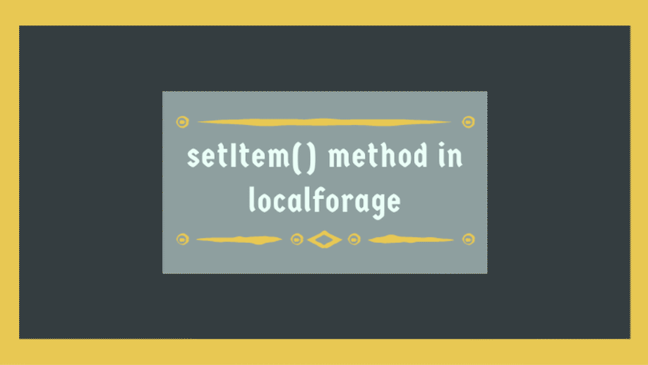 Save Data To Offline Storage With Localforage