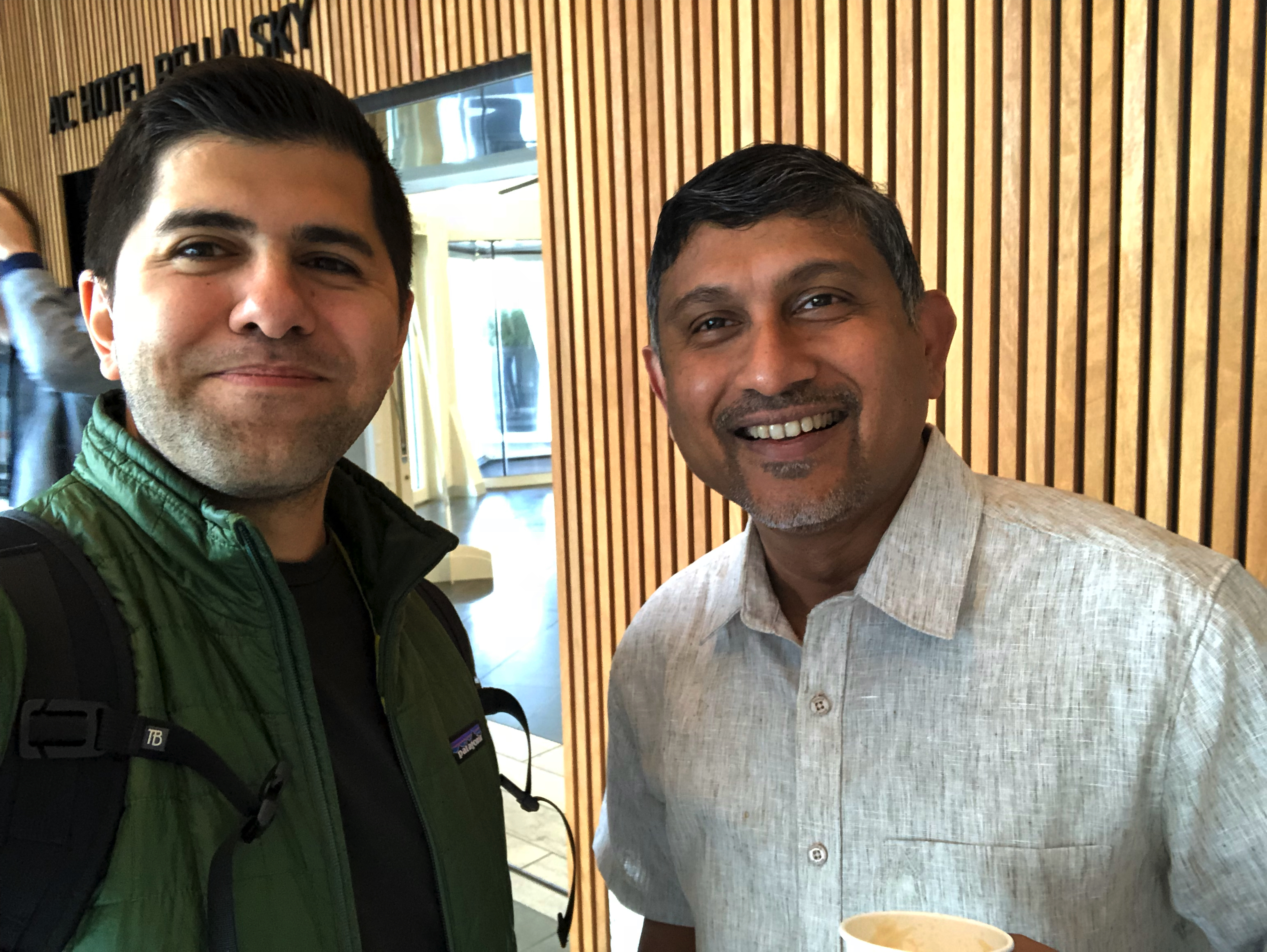 Sugu and me at the KubeCon 2018 conference in Copenhagen, Denmark
