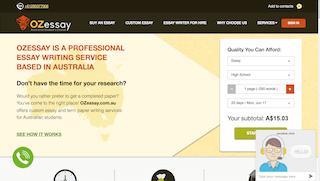 ozessay.com.au main page